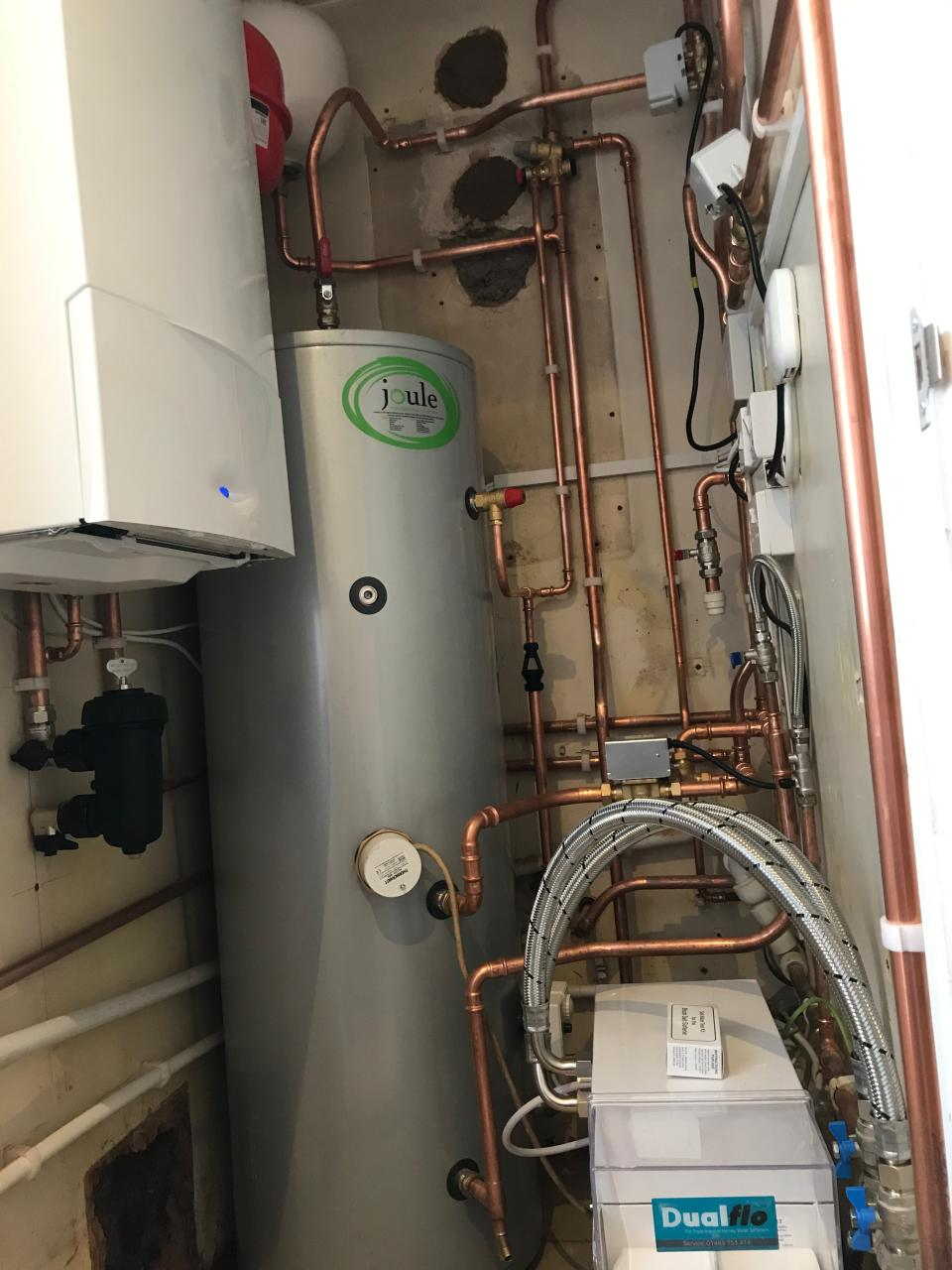 Replacement of HE boiler and Mega-flo after